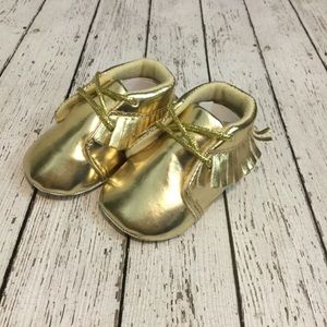 Other - Gold Baby Moccassins